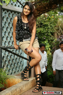 Actress Neha Deshpande  Pictures in Shorts at Silk India Expo 2014  0065.jpg