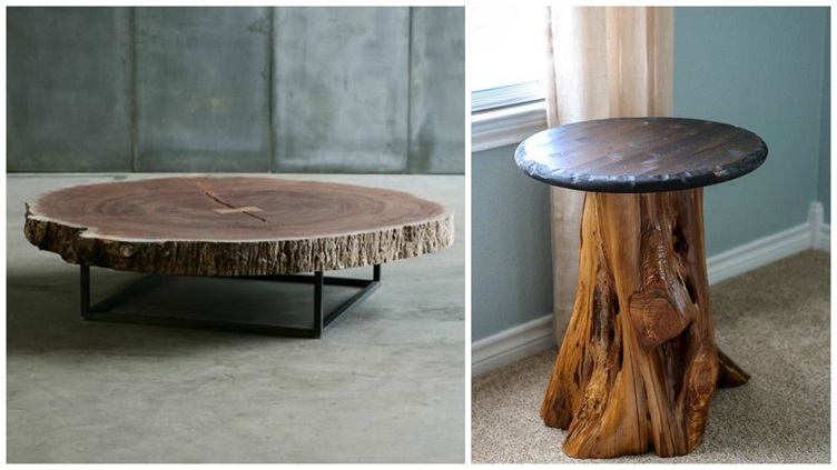 Tree trunk table ideas for Tree trunk slice ideas