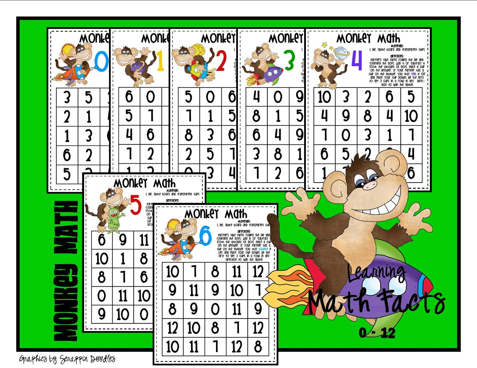 Lory\'s 2nd Grade Skills: Week 6 - Math Facts and FREEBIES