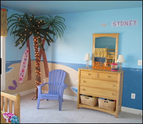Beach Bedrooms Girls Theme Beach Bedrooms Tropical