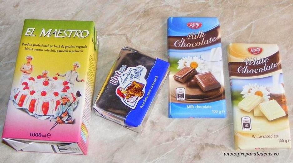 ingrediente glazura din ciocolata alba pentru ecler vienez retete culinare de dulciuri si prajituri delicioase de casa,