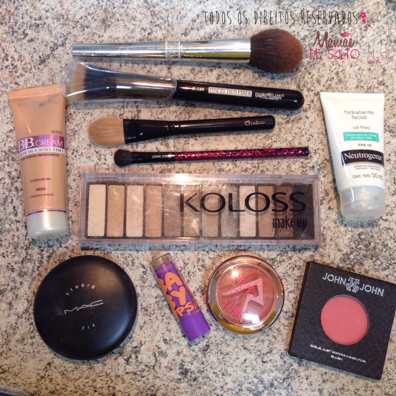 tutorial maquiagem básica da mamãe lista de produtos usados - todos os direitos reservados ao blog Mamãe de Salto