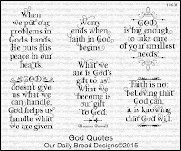 Our Daily Bread designs God Quotes