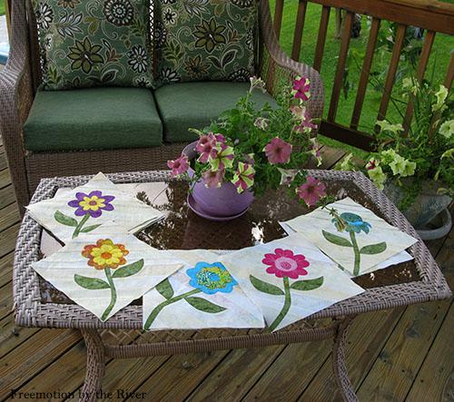 Summer Flowers appliques blocks