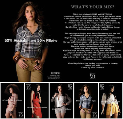 "Bayo campaign ""What's Your Mix? (Jasmin Curtis-Smith etc.)"