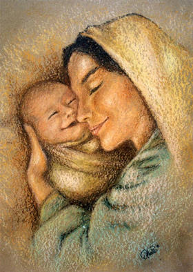 Mother's love painting