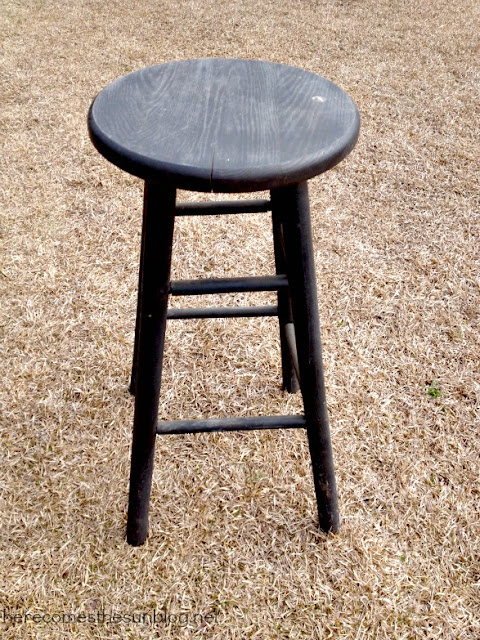 Here Comes the Sun: Monogrammed Stool with Vinyl
