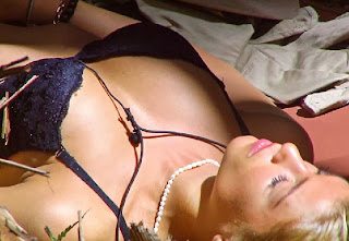 English: Amy Willerton Black Bikini I'm A Celebrity Australia