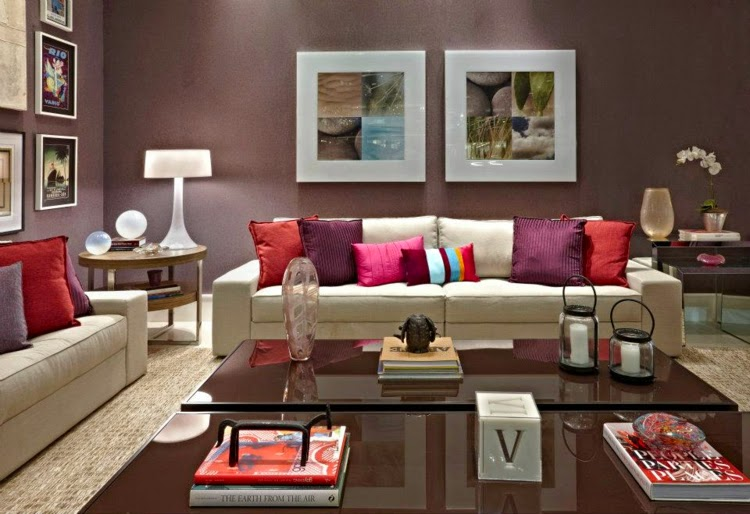 Living Room Wall Decor Ideas:living Room Wall Design In Spring Colors