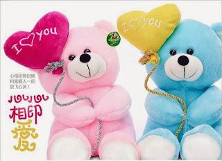 Boneka beruang love 10