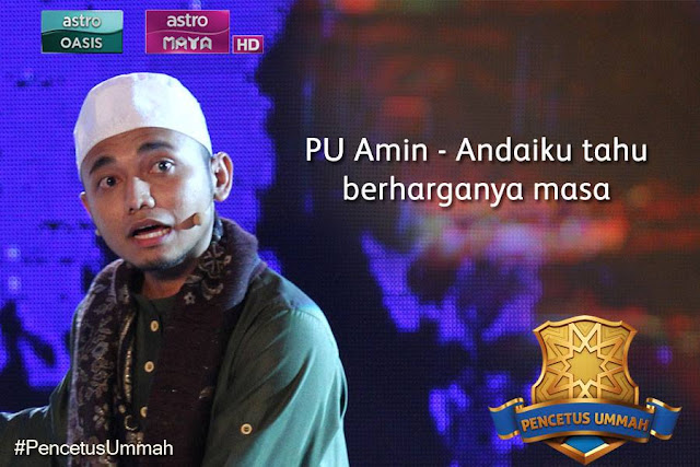 PU amin, Kisah Ayah PU Amin, Tempat Keempat pencetus ummah 2015,