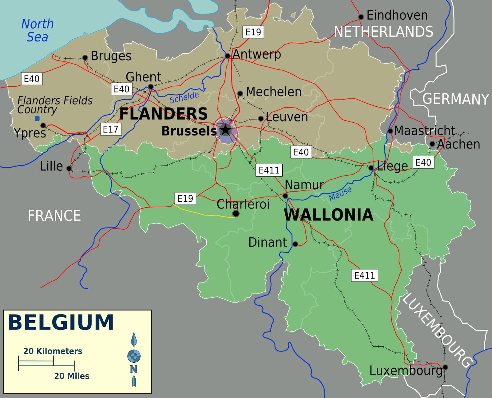 Mapa Flandes. Catalunya. Escocia. Euskal Herria.  Véneto. Independencia, referendum o consulta y derecho de autodeterminación.