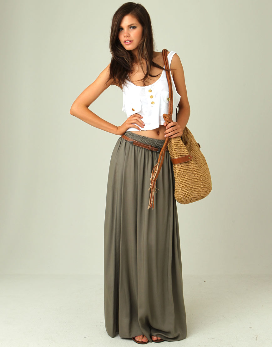 stylish and maxi skirt for