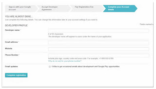 Google play registration