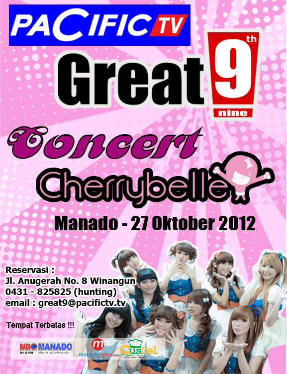 konser cherry belle di manado 27 oktober 2012 di hut pacific tv yang