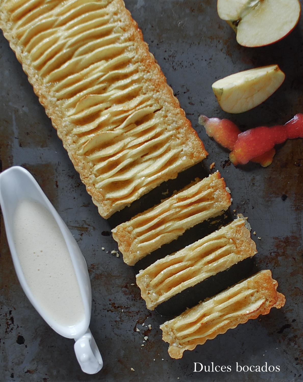 Tarta frangipane con manzanas - Dulces bocados