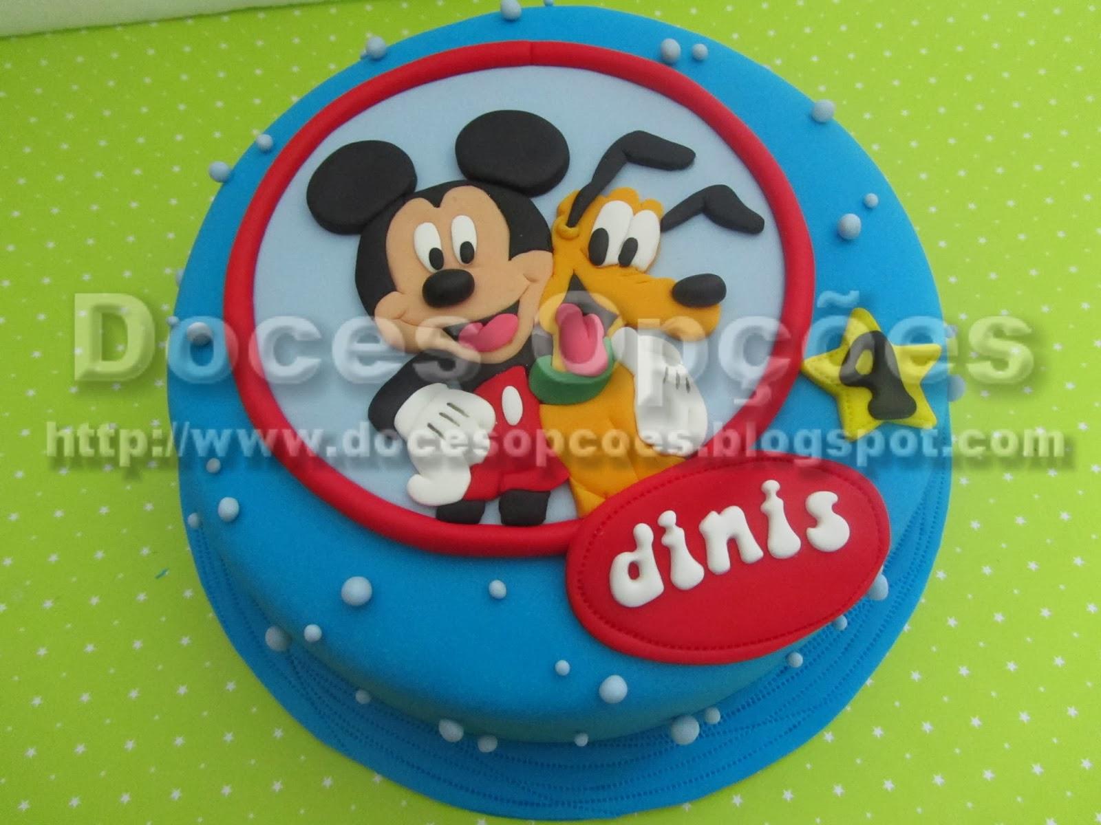 bolo aniversário mickey 2d