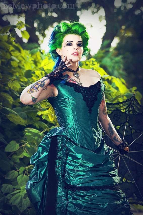 Black Wedding Dress Up : Green mixed black wedding dress designs with corset