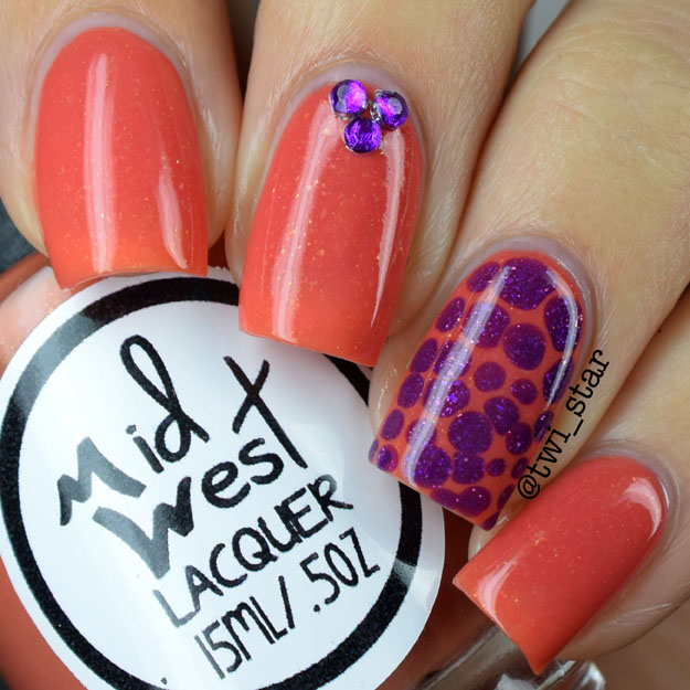 MidWest Lacquer Cincy Sunset Thermal polish swatch blobbicure tutorial