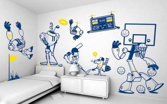 hiasan dinding kamar anak dengan sticker : desain rumah - rumah