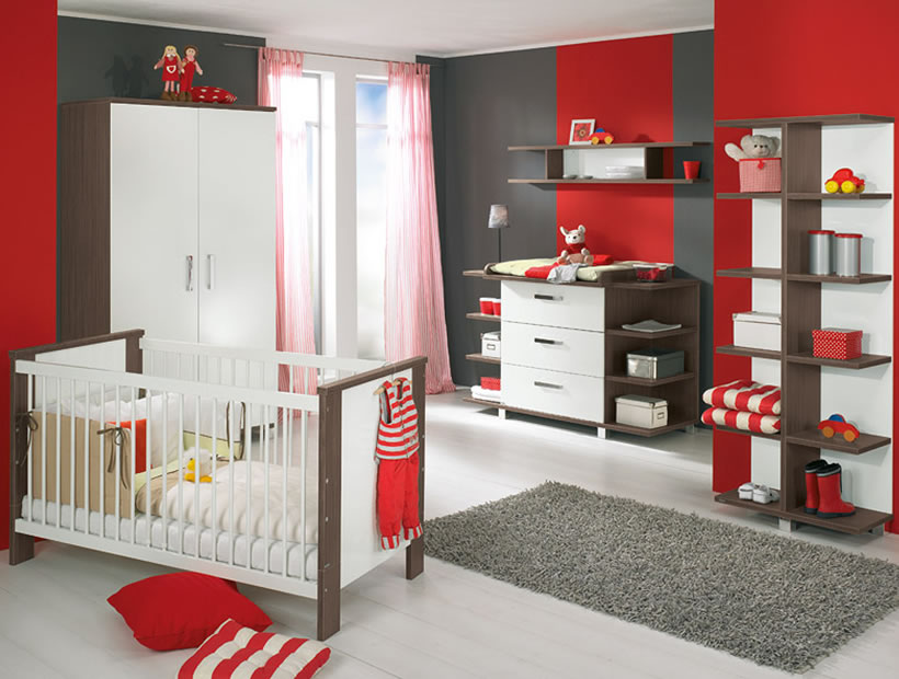 Red Boys Baby Room Ideas