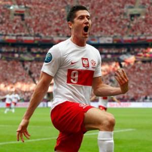 Celebración Gol de Polonia