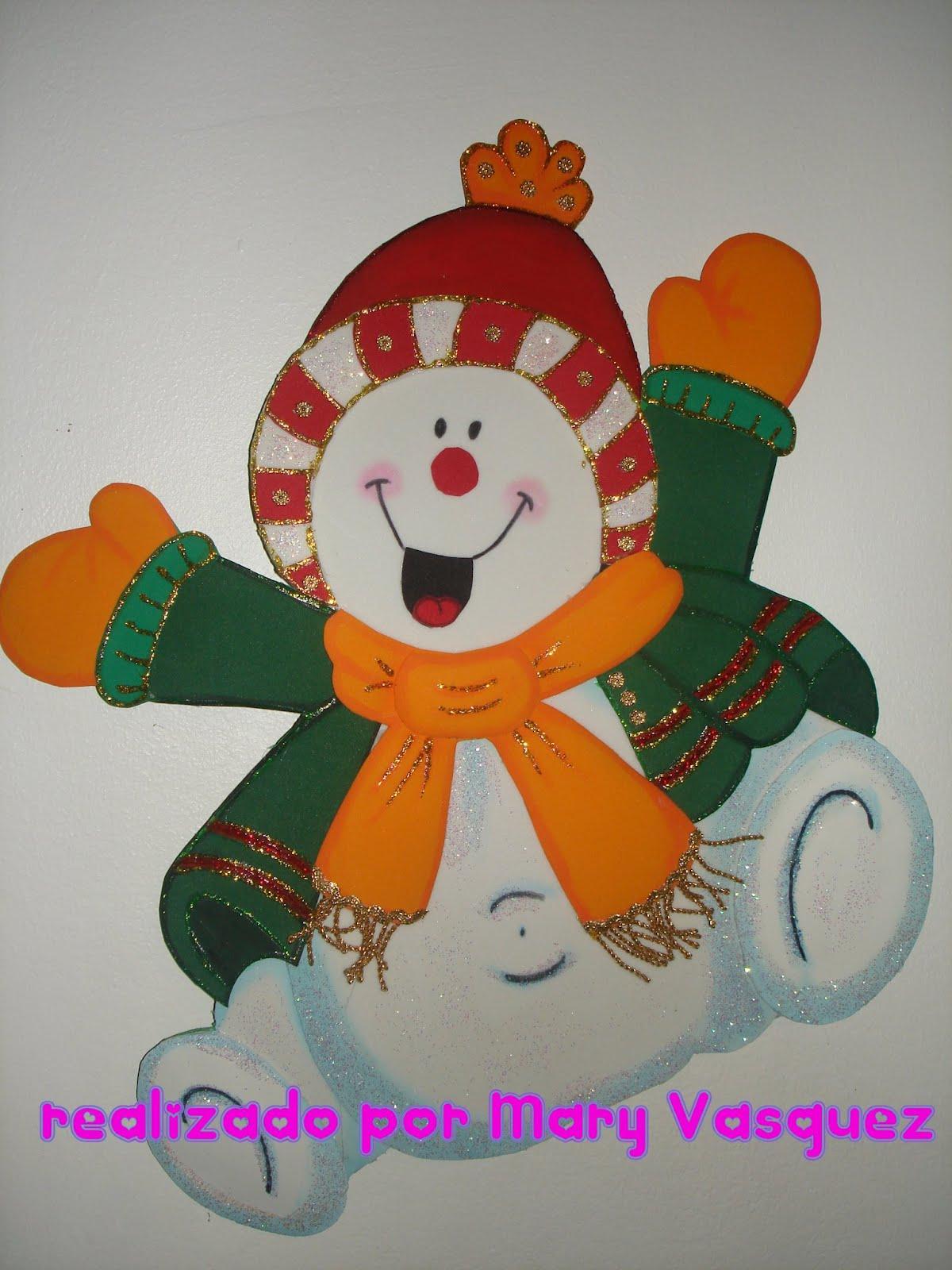 Mu eco nieve bailando invierno goma eva pinterest - Munecos de navidad ...