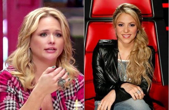Blog da Shakira - Shakira e Miranda Lambert no programa The Voice US