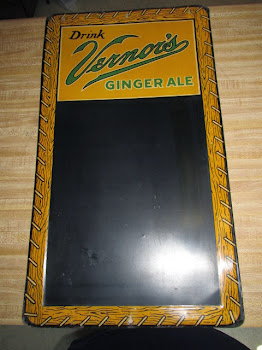 Vintage Vernor's Ginger Ale Advertising Menu Board