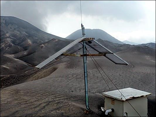Listrik tenaga surya milik Badan Vulkanologi di Pasir Berbisik