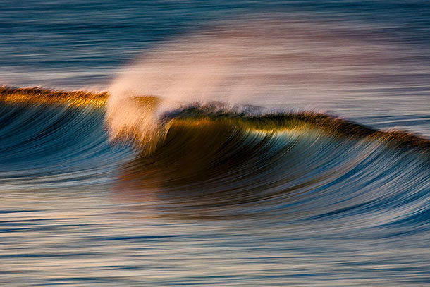 As Ondas Douradas da Califórnia - Fotografia de longa exposição de David Orias