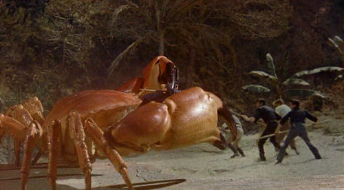 Ray Harryhausen's Giant Crab in Mysterious Island