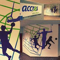 Accress sport muurschildering.EGD