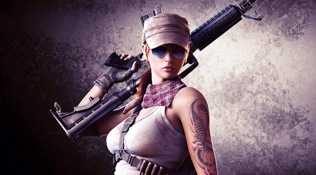 23415-Sexy Slim Girl With Gun HD Wallpaperz
