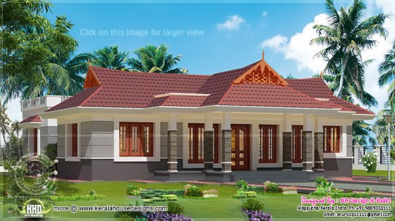 Nalukettu house in 1600 square feet kerala home design for 1600 square foot house