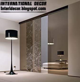 Modern sliding doors designs wide for office room interior