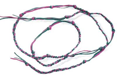 Плетение аксессуаров и ручек для сумок из шнура