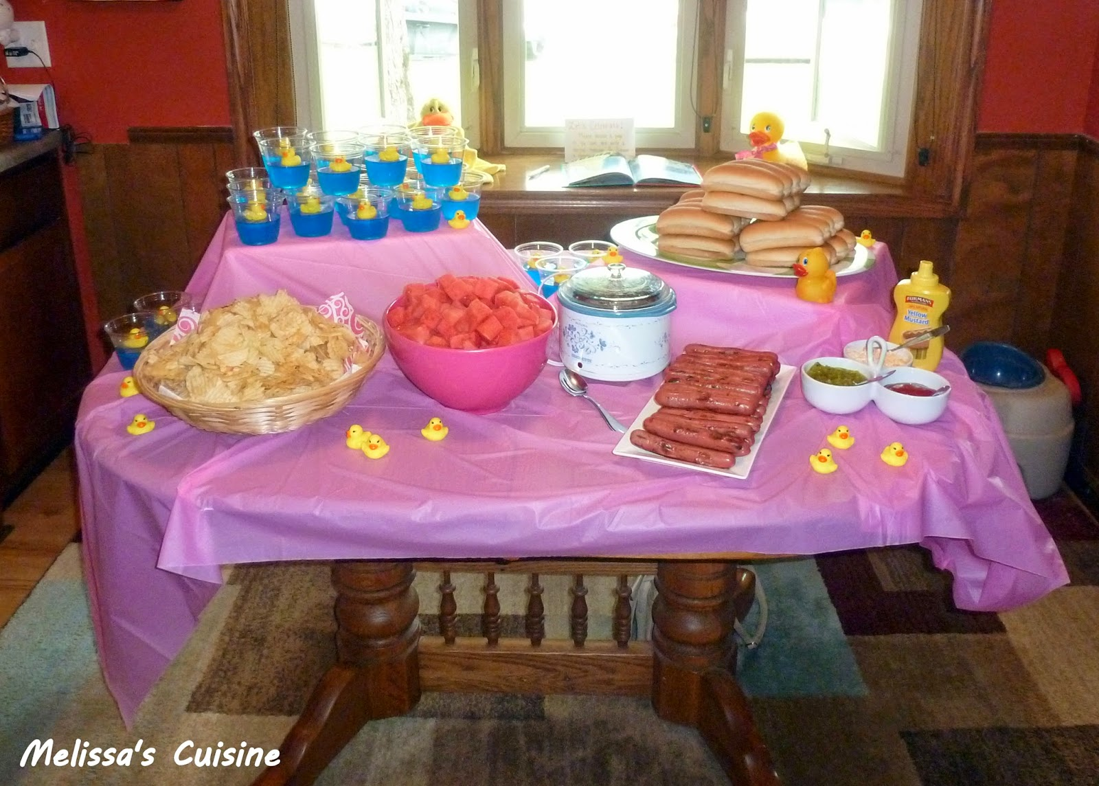 Melissa's Cuisine: Rubber Ducky First Birthday Party