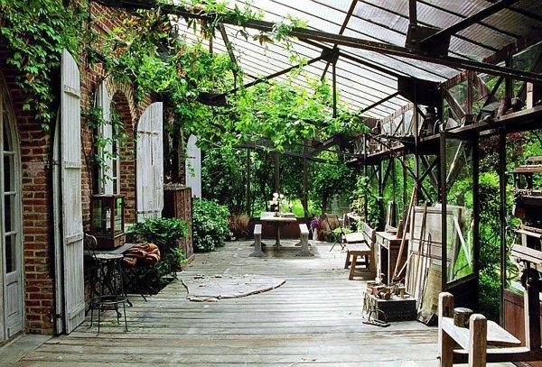 escadas rusticas jardins : escadas rusticas jardins:ar rústico do tijolo aparente, as janelas brancas e o piso de