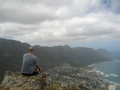view from top of lion's head in cape town south africa