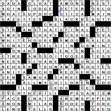 Crossword Clues Starting With L