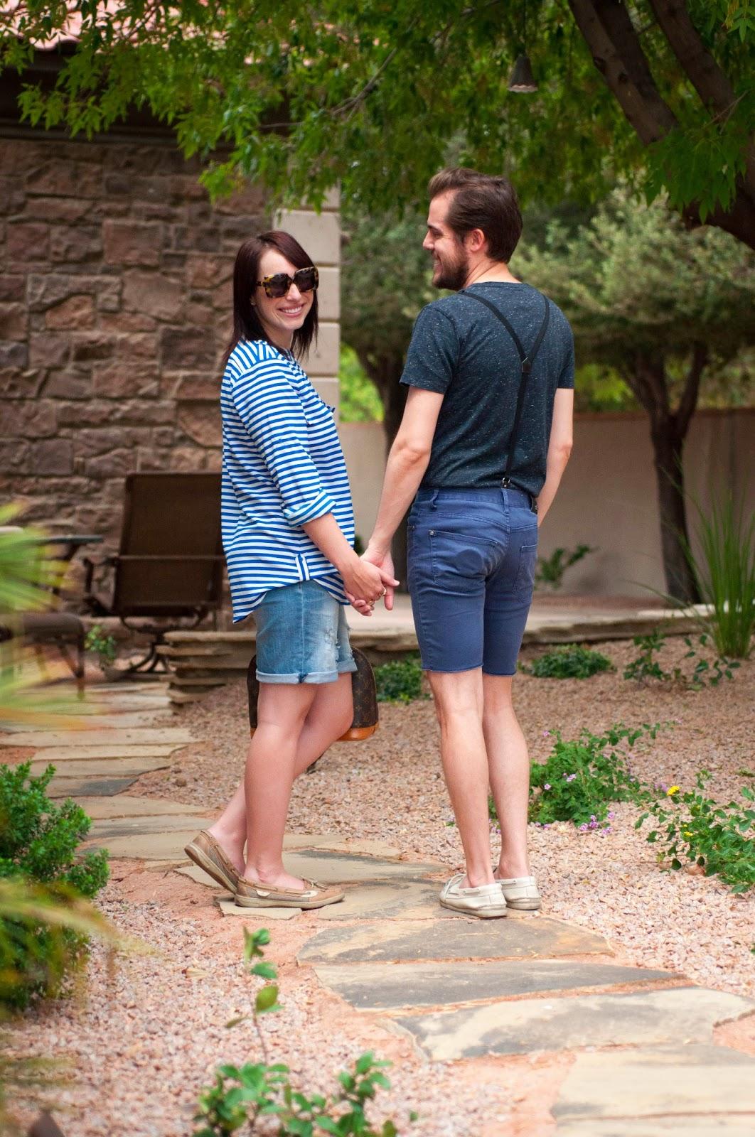 couples fashion, mens fashion blog, sperry topsider for men, suspenders, zara, ootd, karen walker sunglasses