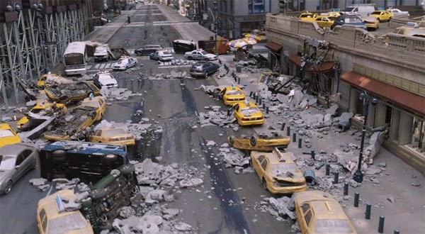 Metropolis destruida - EL Hombre de Acero