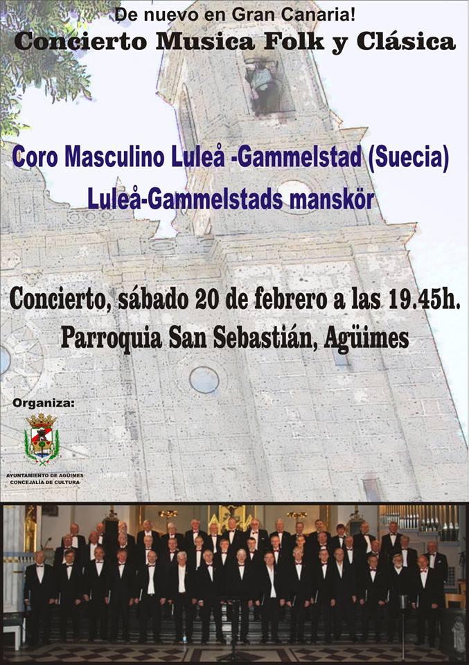 Concierto de Luleå Gammelstads Mankör en la Iglesia de Agüimes