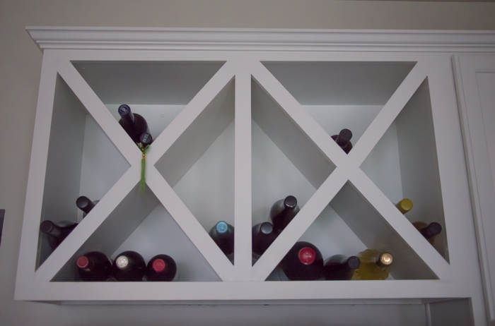 DIY Wine Cabinet - Above the Fridge | Whispering Whims
