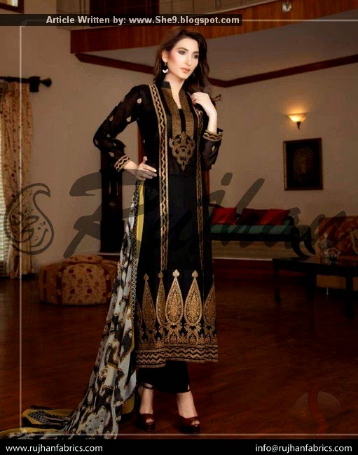 Parisha Embroidered Swiss Voile Collection 2015
