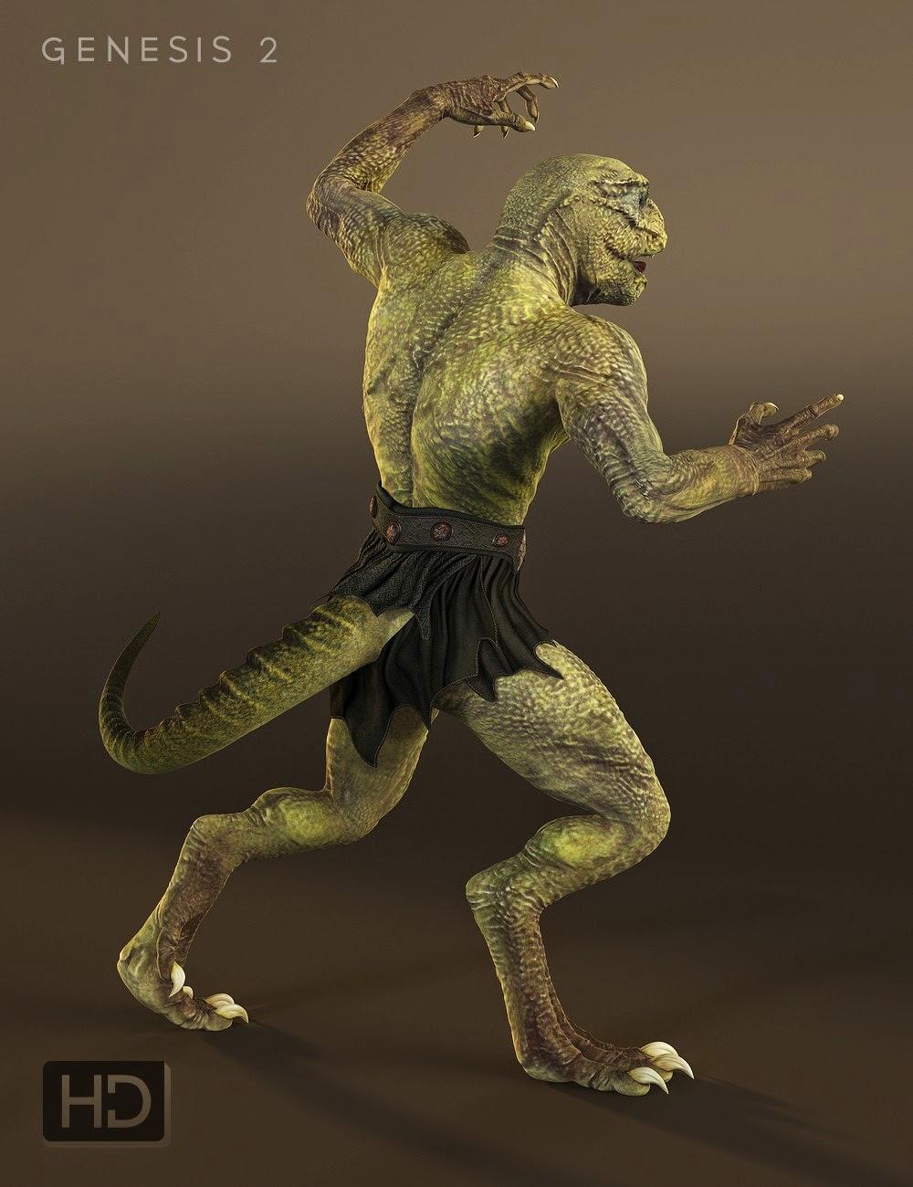 Reptilienne 6 HD pour Genesis 2 Homme