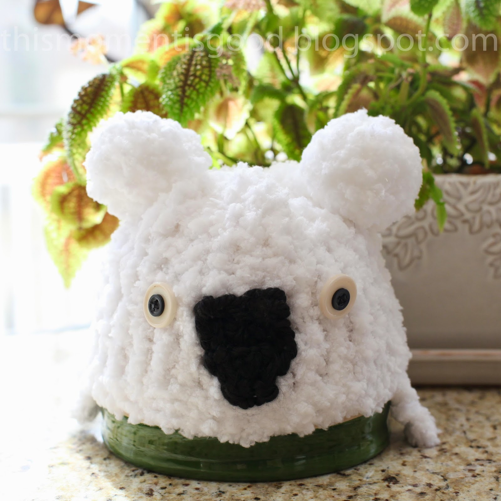 Koala Hat Knitting Pattern Free : Loom Knitting by This Moment is Good!: LOOM KNIT WHITE ...