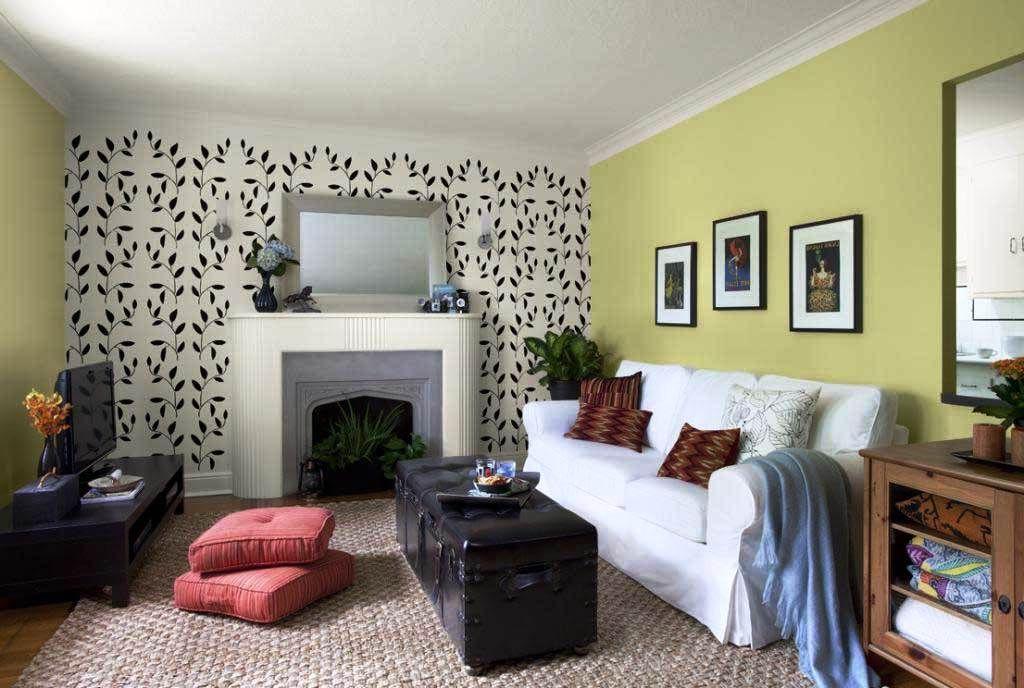 Contoh Desain Wallpaper Dinding Ruang Tamu