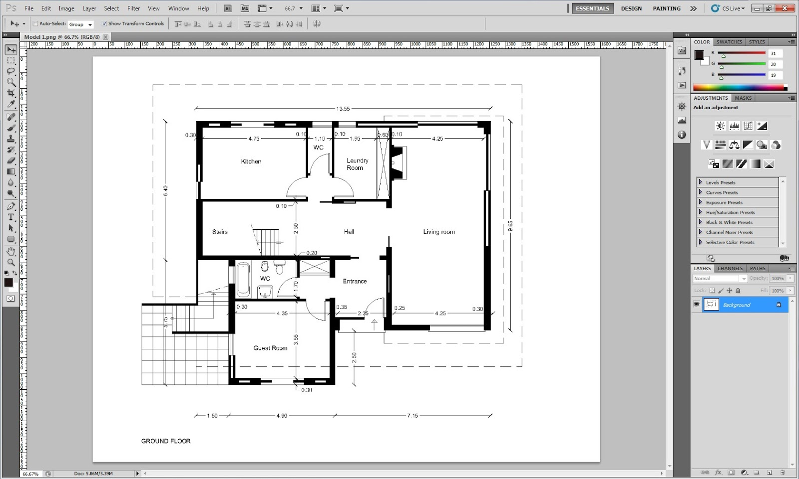 How to import AutoCAD drawings to Photoshop Part 1/2 - AutocaDesigner